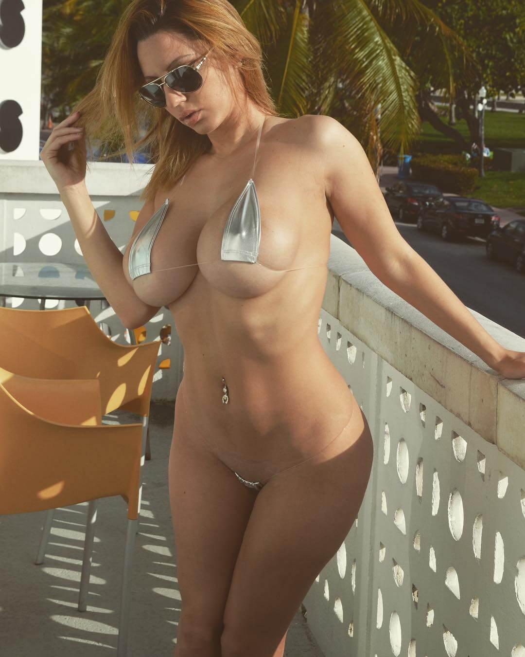 Ashley Vegas micro bikini