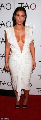 Kim Kardashian boobs in plunging dress