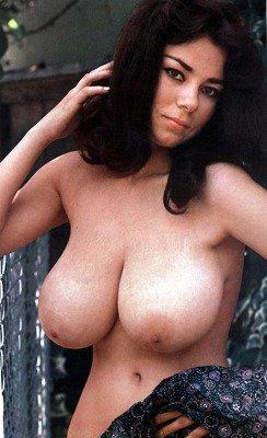 retro babe Lane Weldon naked huge boobs close-up