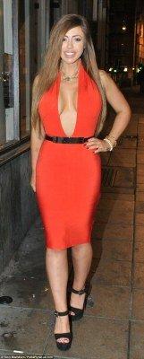 Holly Haogan sexy tight dress photo 2