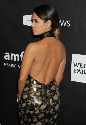 braless Rocsi Diaz hot glamour dress at amfAR Gala photo 6