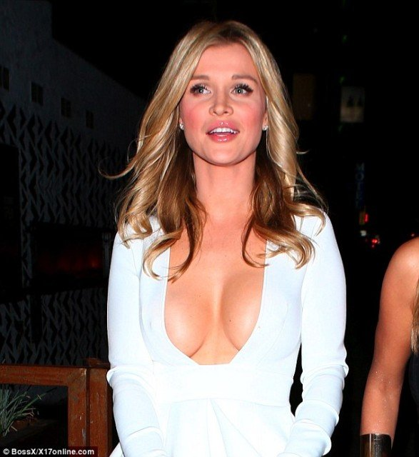 Joanna-Krupa huge cleavage dress