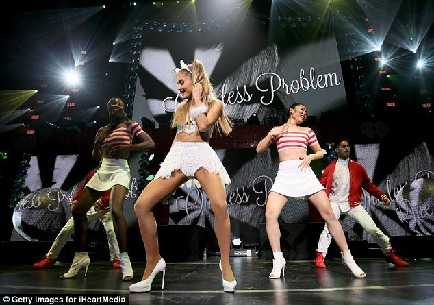 Ariana Grande hot dancing on stage