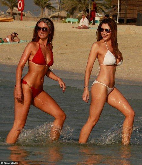 Gemma Merna and Jennifer Metcalfe flaunt their shapely bikini bodies photo 1