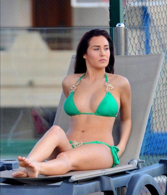 Chloe Goodman at the pool