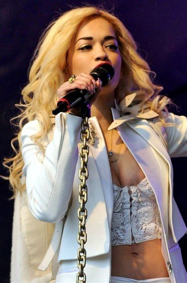 British singer Rita Ora nip slipon stage photo 3