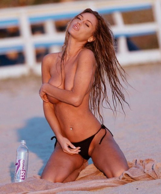 "Charlie Riina topless pose for ""138 Water"" Photoshoot In Malibu!"