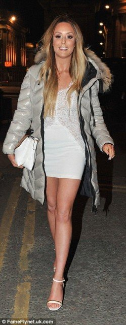 Charlotte Crosby hot tight mini dress in a night out photo 6