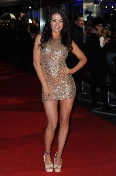 Jess Impiazzi sexy mini dress on red carpet