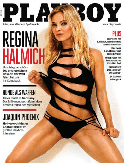 Regina Halmich sexy Playboy cover