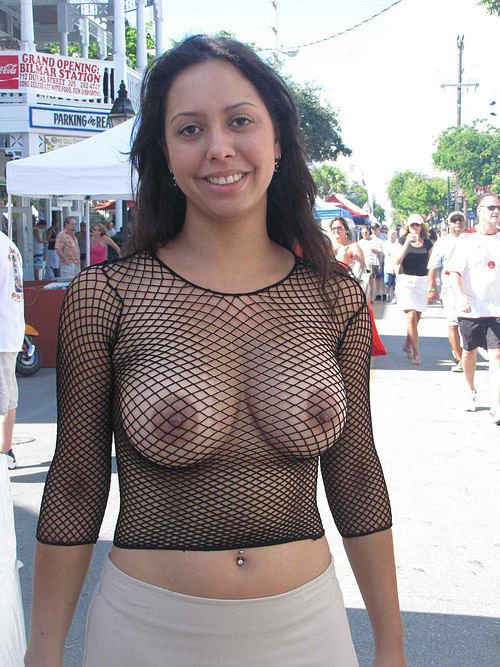 sexy-fishnet-reveals boobs-photo 11
