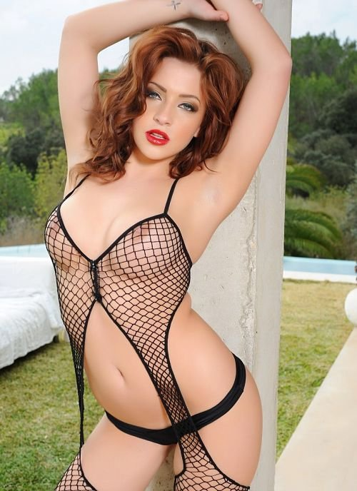 sexy-fishnet-reveals boobs-photo 17