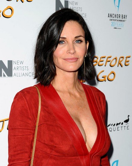 COURTENEY Cox hot plunging dress