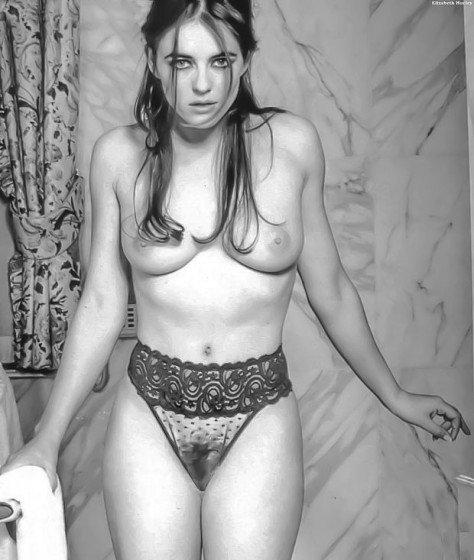 Elizabeth Hurley nude pose