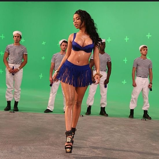 Nicki Minaj hto casting in a Commercial Shoot