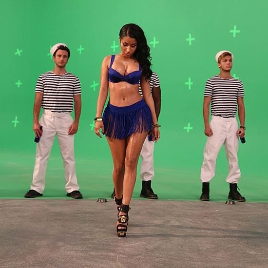 Nicki Minaj in a Lingerie For a Commercial Shoot