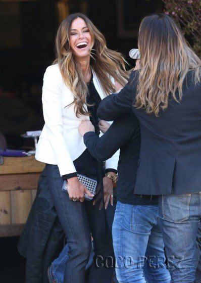 Kelly Bensimon nip slip in see-through