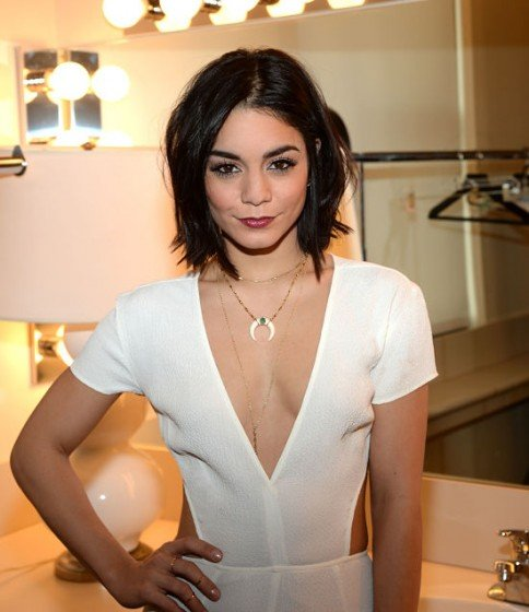 Vanessa Hudgens hot plunging dress