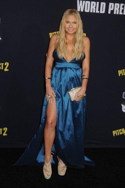 Alli Simpson sexy blue dress