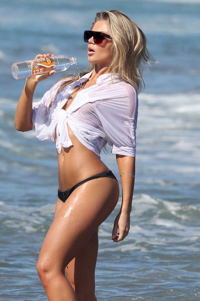 Anastasia Nova wet shirt bikini