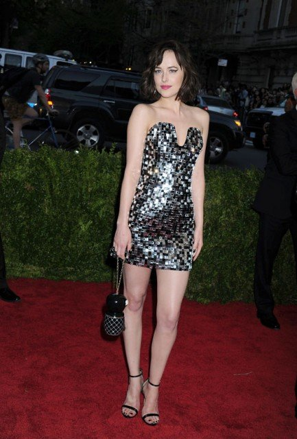 Dakota Johnson hot legs in mini dress