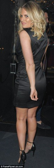 TOWIE's Danielle Armstrong hot glamorous dress