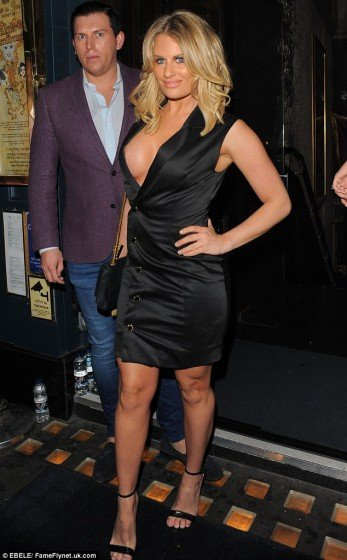 TOWIE's Danielle Armstrong nip slip in a night out
