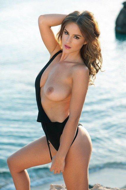Rosie Jones naked natural tit seaside