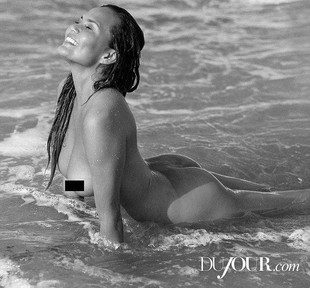 naked Chrissy Teigen DUJOUR Magazine