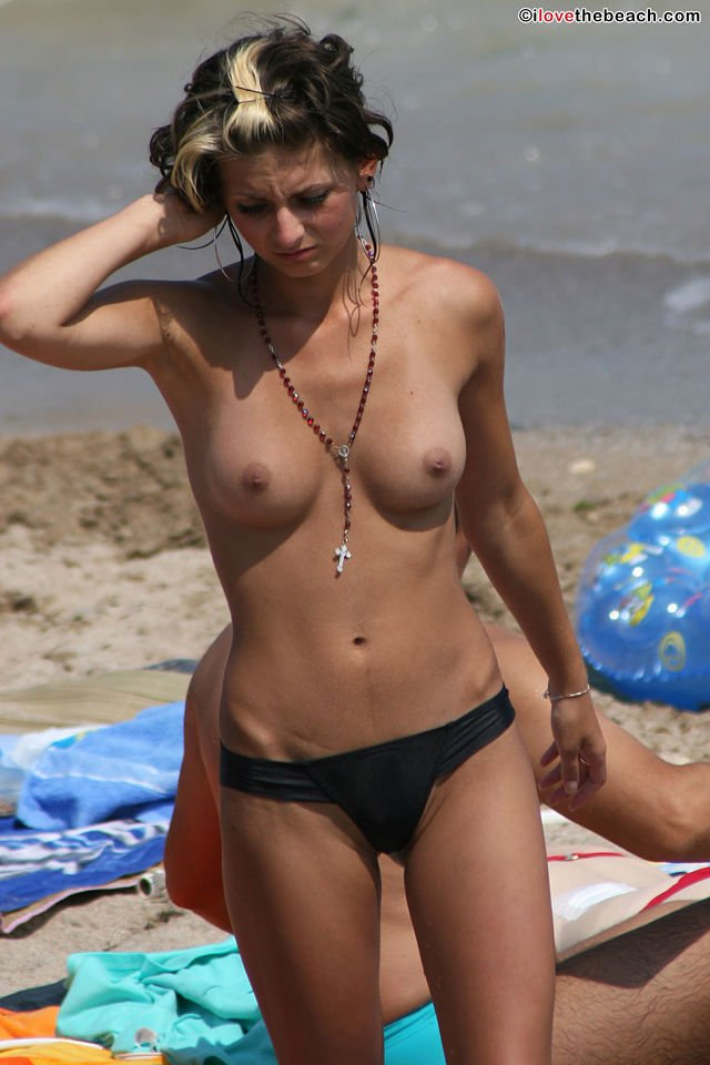 Real topless beach