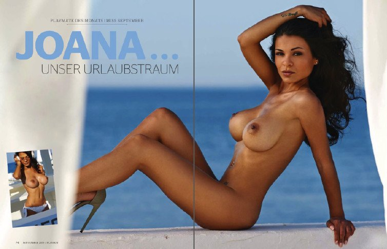 Joana Plankl naked hot girl in Playboy magazine