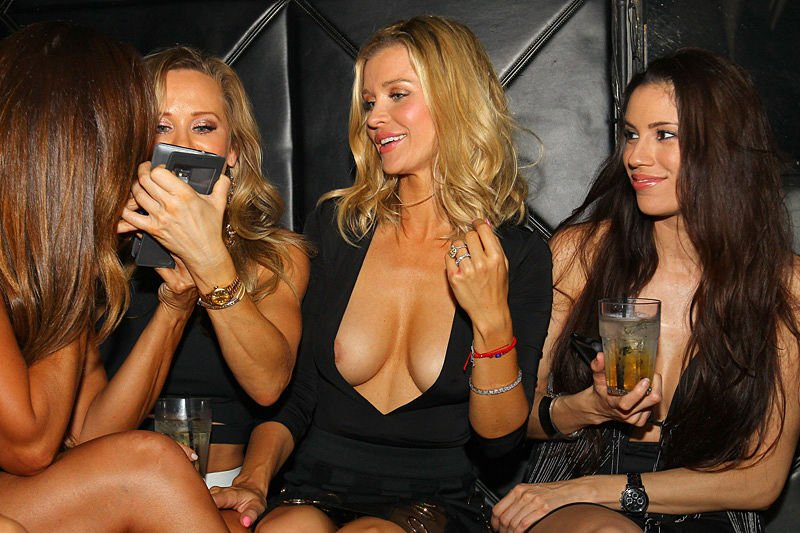 Joanna Krupa titsin sexy plunging dress on a Night Out