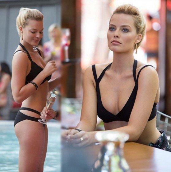 Beautiful actress Margot Robbie naked