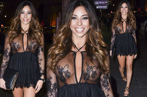 Pascal Craymer tits in sexy sheer mini dress