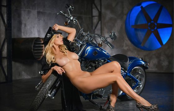 Yaryna: Sexy Blonde Is Born To Ride