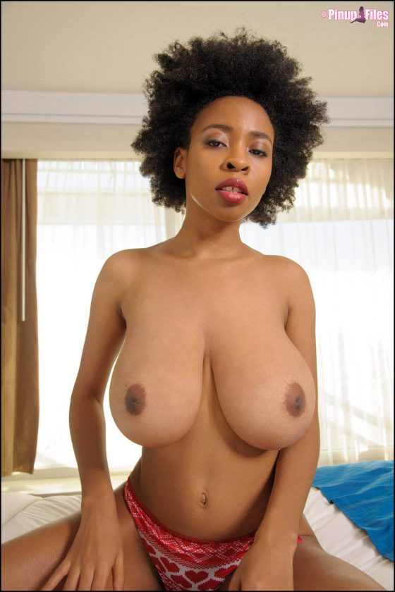 Naked Julie Anderson big black tits