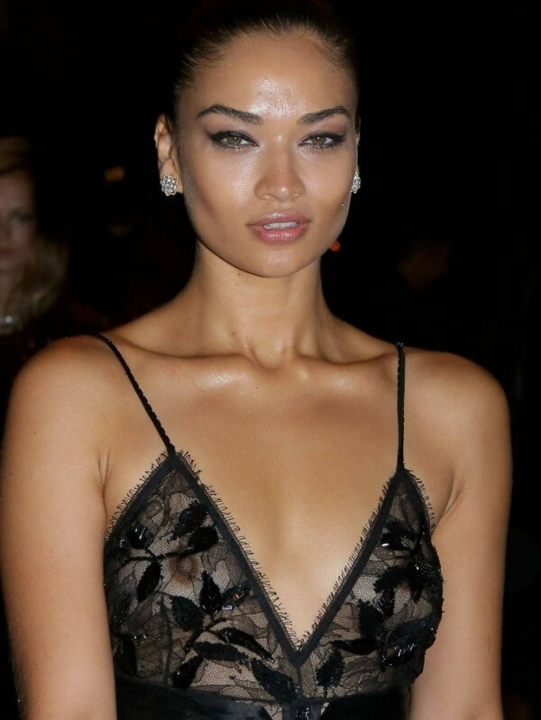 Braless Shanina Shaik can't hide her nipples!