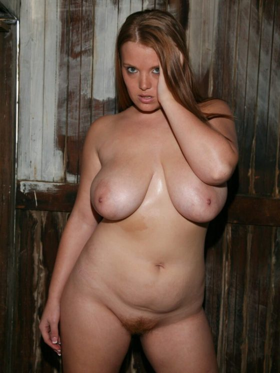 Chubby babe completely naked