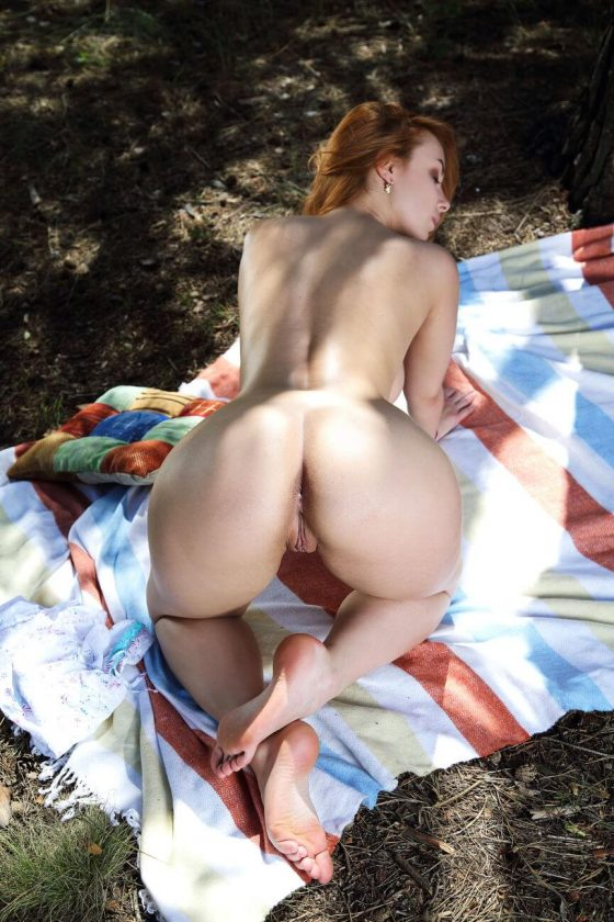 MetArt model Vos nude outdoors photo 9