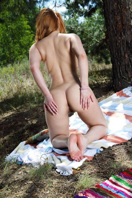 MetArt model Vos nude outdoors photo 10