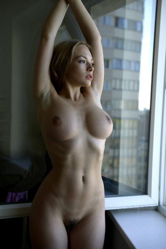 Olga Kobzar big tits topless