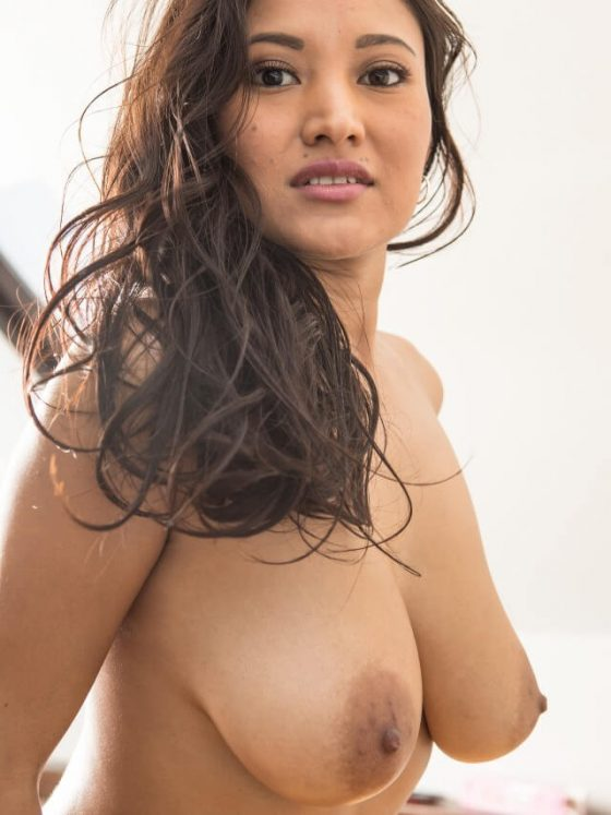 topless woman with big natural tits
