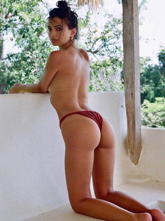 Emily Ratajkowski-topless-bikini-ass
