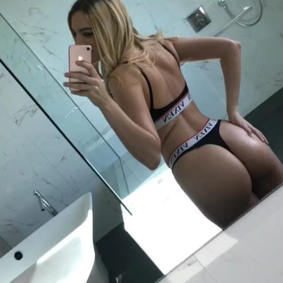 Kenna James sending booty vibes in twitter video selfie!