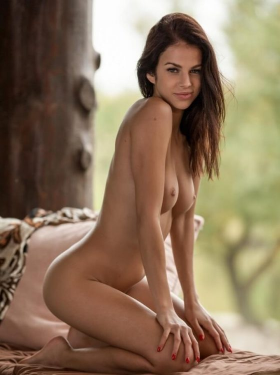Playboy model Sophie nude pose