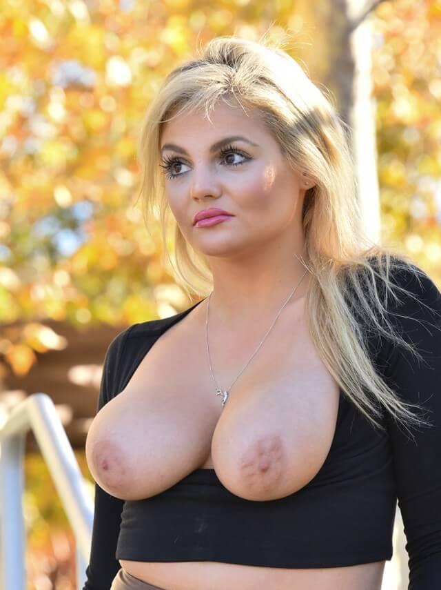 sexy MILF naked boobs