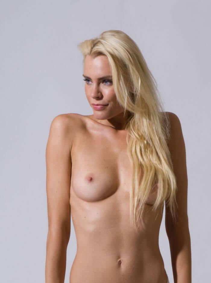 Nude model Mija hot blonde