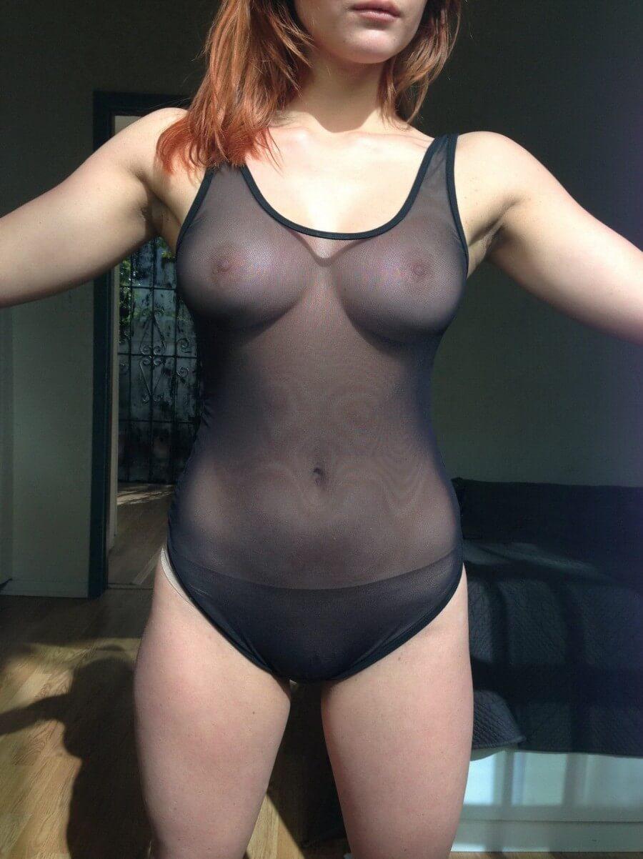 Kaili Thorne tits braless see-through