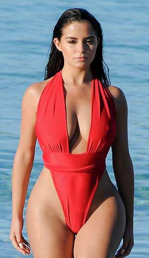 Demi-Rose hot bikini babe