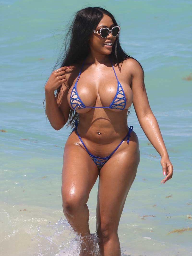 Moriah Mills bikini nipple peek